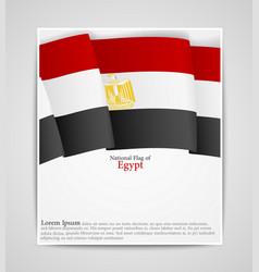 national flag brochure of egypt vector image vector image
