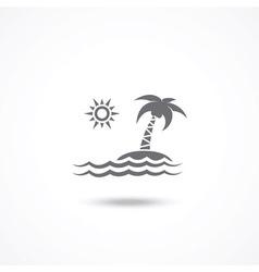 Tourism icon vector image