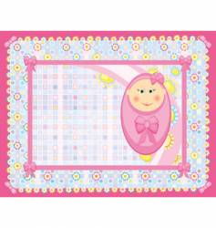 card for baby girl vector image