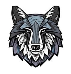 color Wolf head vector image vector image