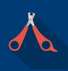 Pet nail clippers icon in flate style isolated on vector