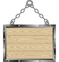 wooden plaque vector image