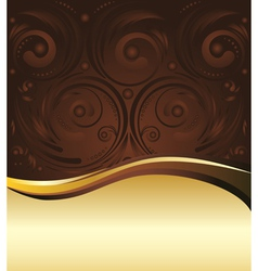 Brown and gold background3 vector