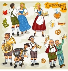 Oktoberfest - hand drawn collection - part 2 vector image