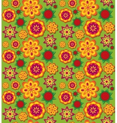 Seamless colorful texture with volumetric flowers vector image vector image