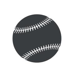 silhouette ball baseball sport american icon vector image