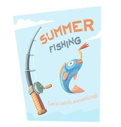 Summer fishing vector image vector image