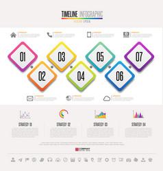 timeline infographics design template vector image