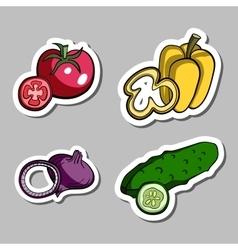 VegetablesStickers vector image