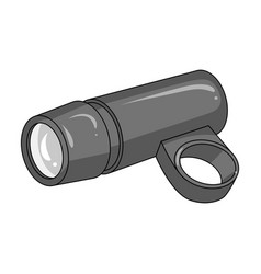 a flashlight that clings to the steering wheel to vector image