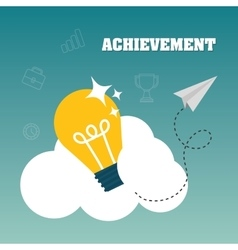 Achievement design Success icon Colorful design vector