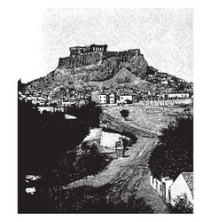 Acropolis site original settlement vector