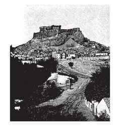 Acropolis the site of the original settlement vector