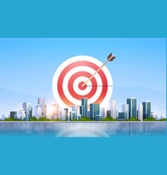 arrow in target business strategy concept vector image