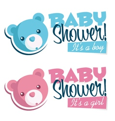 Baby Shower Invitations with Bears vector