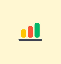 bar chart icon flat element vector image