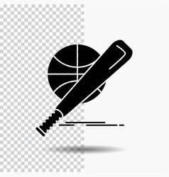 baseball basket ball game fun glyph icon on vector image