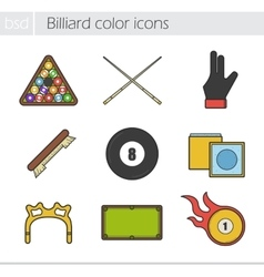 Billiard icons vector