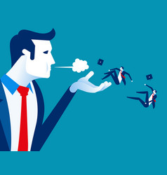 Blown away manager dismiss employees concept vector