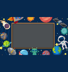 Border template with space in background vector
