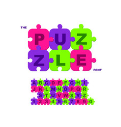 children s font in cartoon style colorful vector image