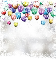 Christmas balloon background 1411 vector