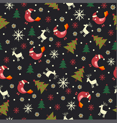 christmas pattern with christmas trees vector image