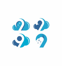 cloud 9 logo vector image