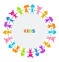 Colorful kids friends image vector image