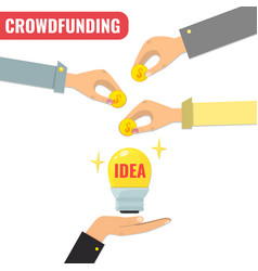 crowdfunding concept business model for start up vector image