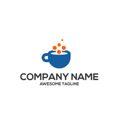 cup technology logo vector image