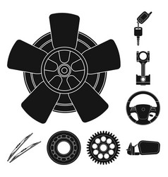 Design of auto and part icon set of auto vector