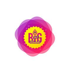 Diwali festival big sale banner hindu festival vector