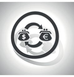 Dollar-euro trade sign sticker curved vector