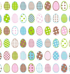 Easter wrapping paper with patterned eggs on white vector image