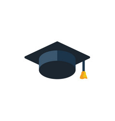 Education hat icon student vector
