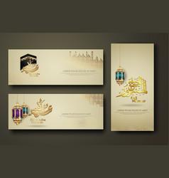 Eid al adha and hajj mabrour calligraphy islamic vector