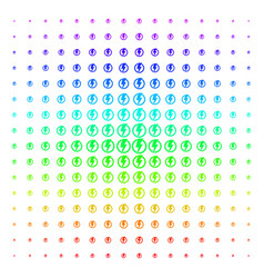 electricity shape halftone spectral effect vector image