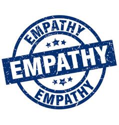 Empathy blue round grunge stamp vector