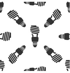 energy saving light bulb icon seamless pattern vector image