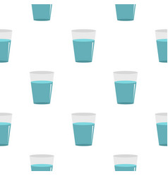 Glass water pattern flat vector