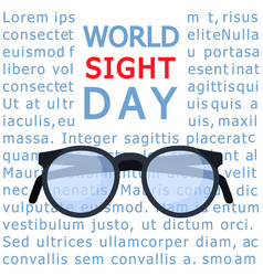 Glasses sight day concept background flat style vector