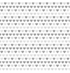 gray striped heart pattern seamless background vector image