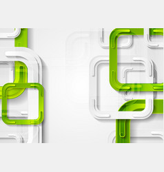 green and grey squares abstract tech background vector image vector image
