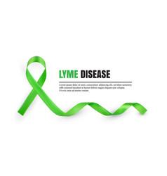 green lyme disease awareness symbolic ribbon vector image