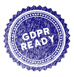 Grunge textured gdpr ready rosette stamp seal vector