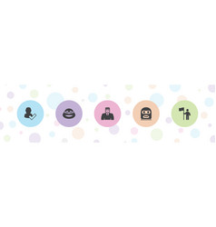 Guy icons vector