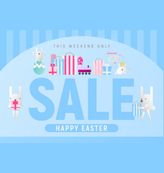 happy easter sale vector image