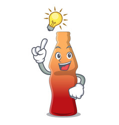 Have an idea cola bottle jelly candy mascot vector