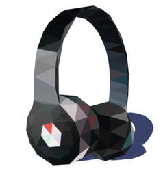 Headphones triangle vector